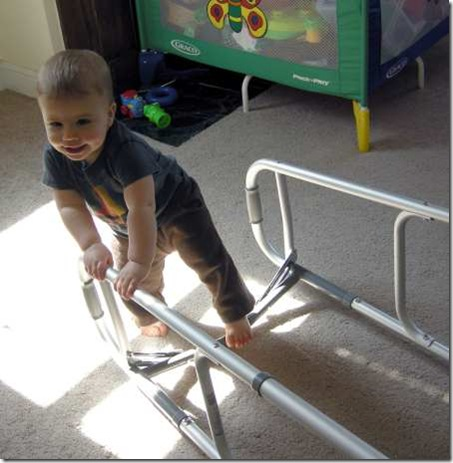 Liam on my walker