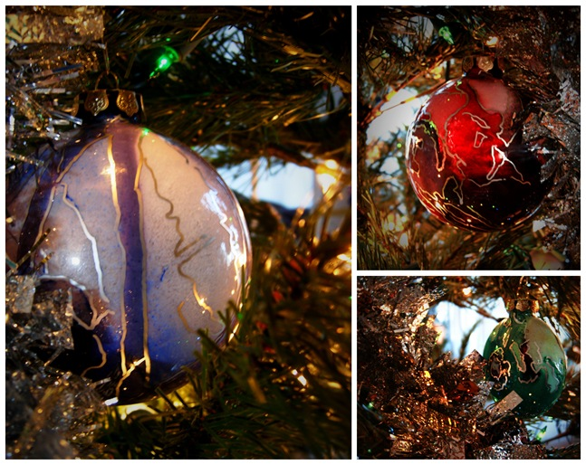 Holiday Tree Ornament Collage