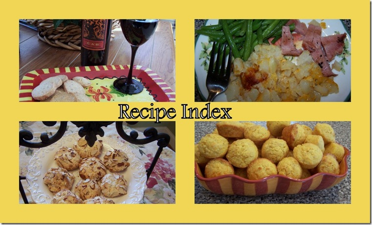 Recipe Index Header