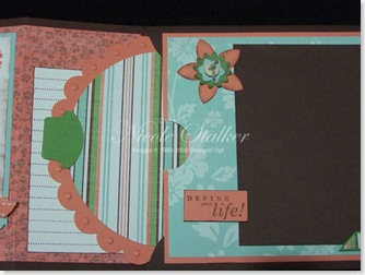 Live Your Dreams Scrapbook Purse Inside 2