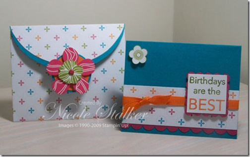 Eastern Blooms Envelope Gift Card Holder & Card
