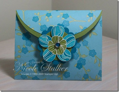 Eastern Blooms Envelope Gift Card Holder