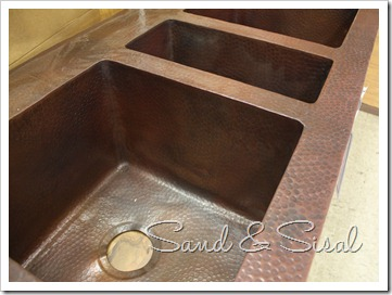 hammered sink