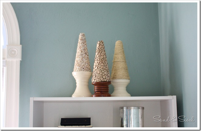 Textured Cones on Shelf