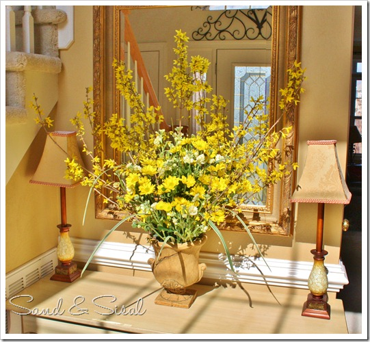 Forsythia with mirror