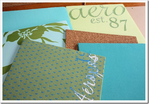 fabric covered style tiles