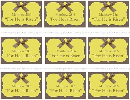 He is Risen Full Sheet Printable