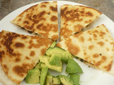 One Dozen Eggs: Black Bean and Goat Cheese Quesadillas