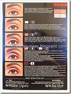 Pupa 4 eyes kit daily bon ton example beaute runway
