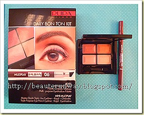 Pupa 4 eyes kit eyeshadow palette daily bon ton beaute runway