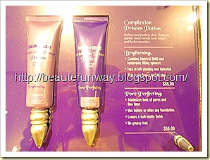 urban decay brigtening primer potion and pore perfecting primer potions