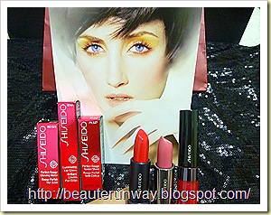 Shiseido perfect rouge tender sheer glow matt luminizing lip gloss close up