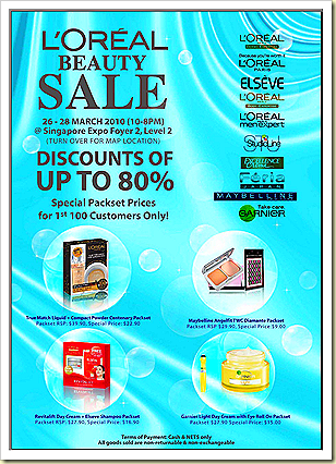 loreal beauty sale mar2010