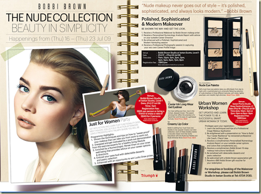 Bobbi Brown The Nude Collection is launching at Isetan Scott from 16 to 23 ...