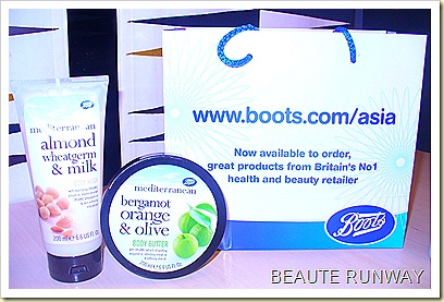 Boots Mediterranean bath and body