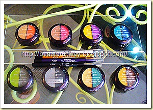 L'Oreal High Intensity Pigments Bright Eye shadows dui and metallic shadow duo