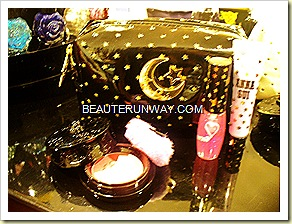 Anna Sui Christmas 2010 Collection Pouch with lip gloss, eye gloss and blusher