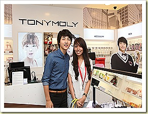 Song Joong Ki with a lucky fan at an exclusive autograph cum photograph session