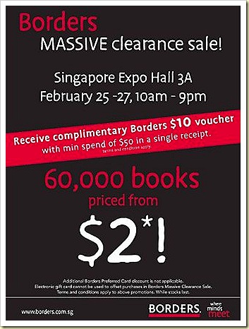 Borders Sale Books Annual Clearance