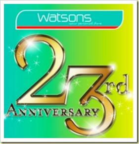 Watsons 23rd Anniversary