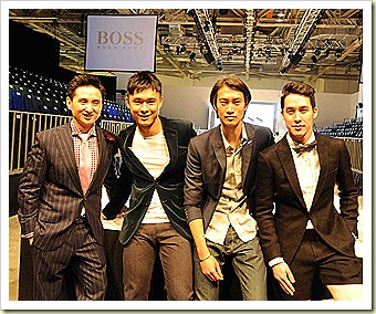 Frank Cintamani, Julian Hee, Philip Huang and Utt at MENS FASHION WEEK 2011 SINGAPORE,