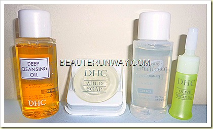 DHC Trial Kit - Deep Cleansing Oil, Mild Soap, Mild Lotion and Olive Virgin oil Watsons Singapore