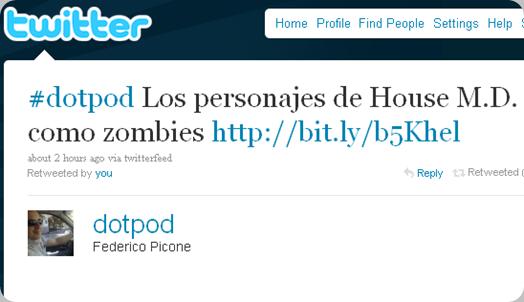 Twitter - Federico Picone- #dotpod