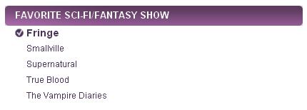 People's Choice Awards 2011 Nominees - fringe