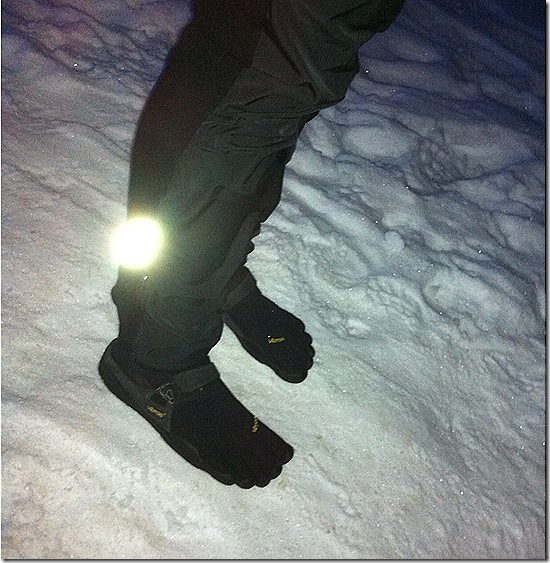 vibrams in the snow