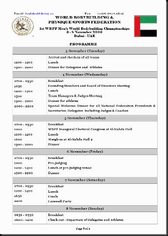 WBPF Programme