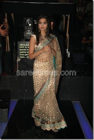 Bollywood actress Sonam Kapoor spotted in Anamika Khanna's sheer
