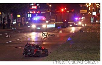 Bike motorcycle crash