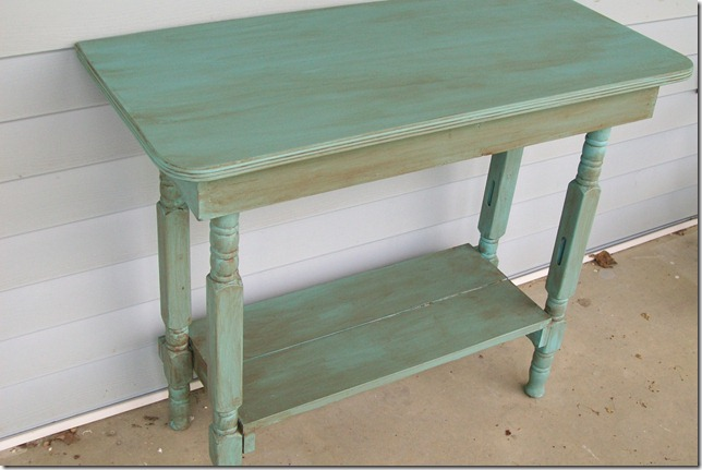 Console Table Made From Old Dining Table