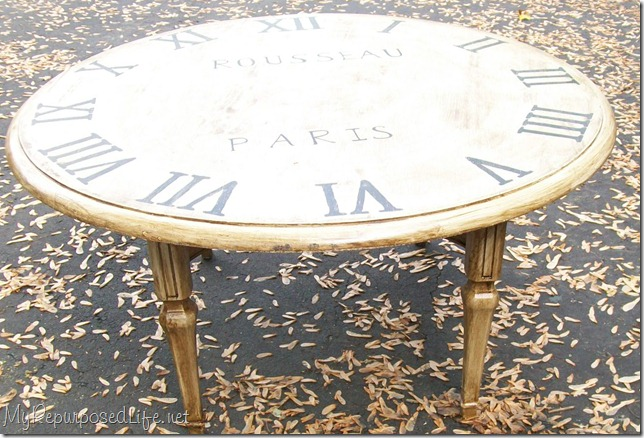 100 faux clock table_7613