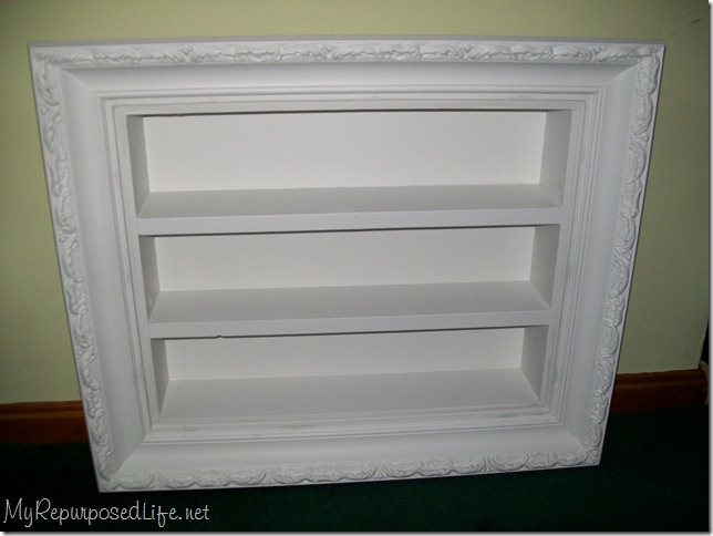 white shadow box