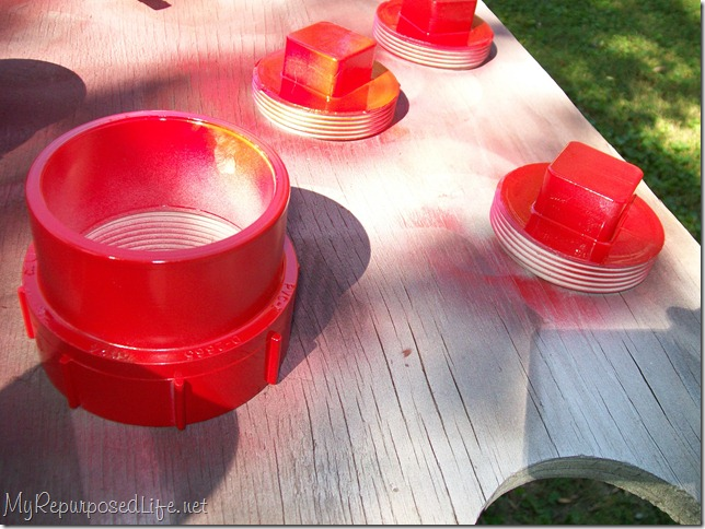 painting pvc red