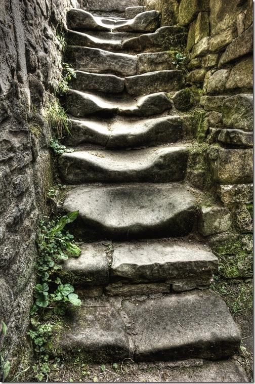well worn stone stairway