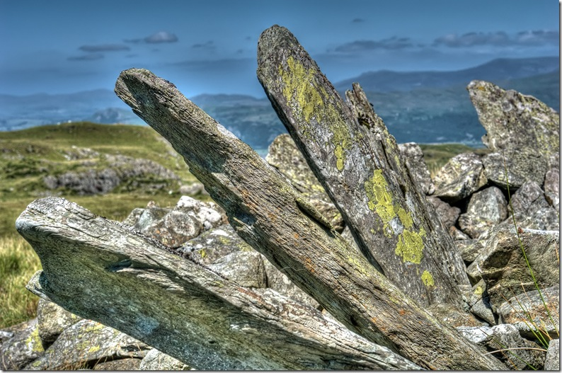 bryn cader faner bronze age ring cairn snowdonia close up