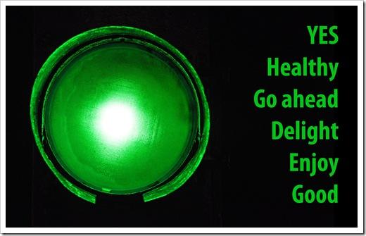 two colours of faith green light go