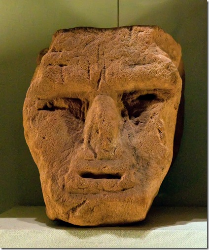 primitive british sculpture of ram-horned celtic god