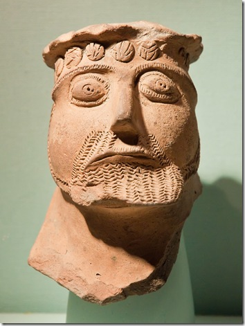 pottery head of a celtic god