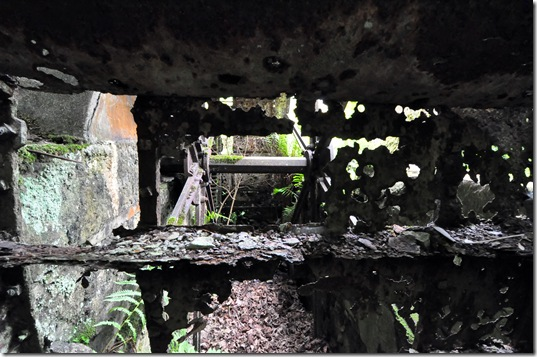 detail of derelict waterwheel at disused watermill