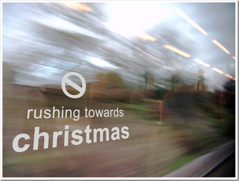 no rushing towards christmas 2
