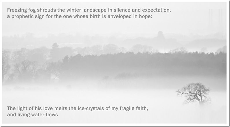 the light of his love melts the fragile ice crystals of my faith copy