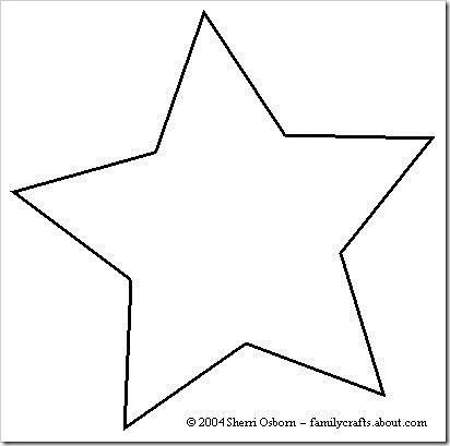 Plantillas navidad para hacer manualidades estrella bola - Plantilla estrella navidad ...