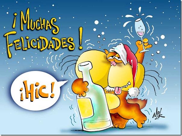 Gaturro btindis Feliz Año Nuevo