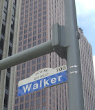 Typical Street Name Sign in Downtown with district location