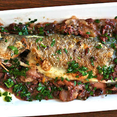 Pan-Roasted Whole Fish with Olives