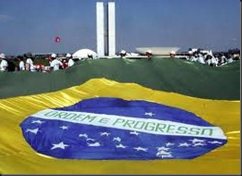 Bandeira do Brasil em Brasilia
