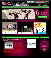 iDANZ Website Screen Shot